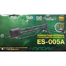 Антенна Т2 комнатная с усилителем Eurosky-ES 005A
