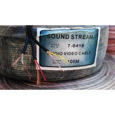 кабель аудио-видео 3жил, черный, 100м