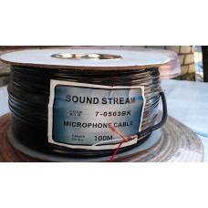 Кабель микрофонный 2х жильный(2,8мм)