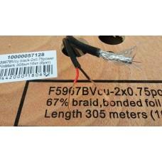 Тв кабель Finmark RG59cu+2х0,75