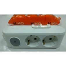Колодка на 2гнезда VIKO Multilet с заземлением и выключателем